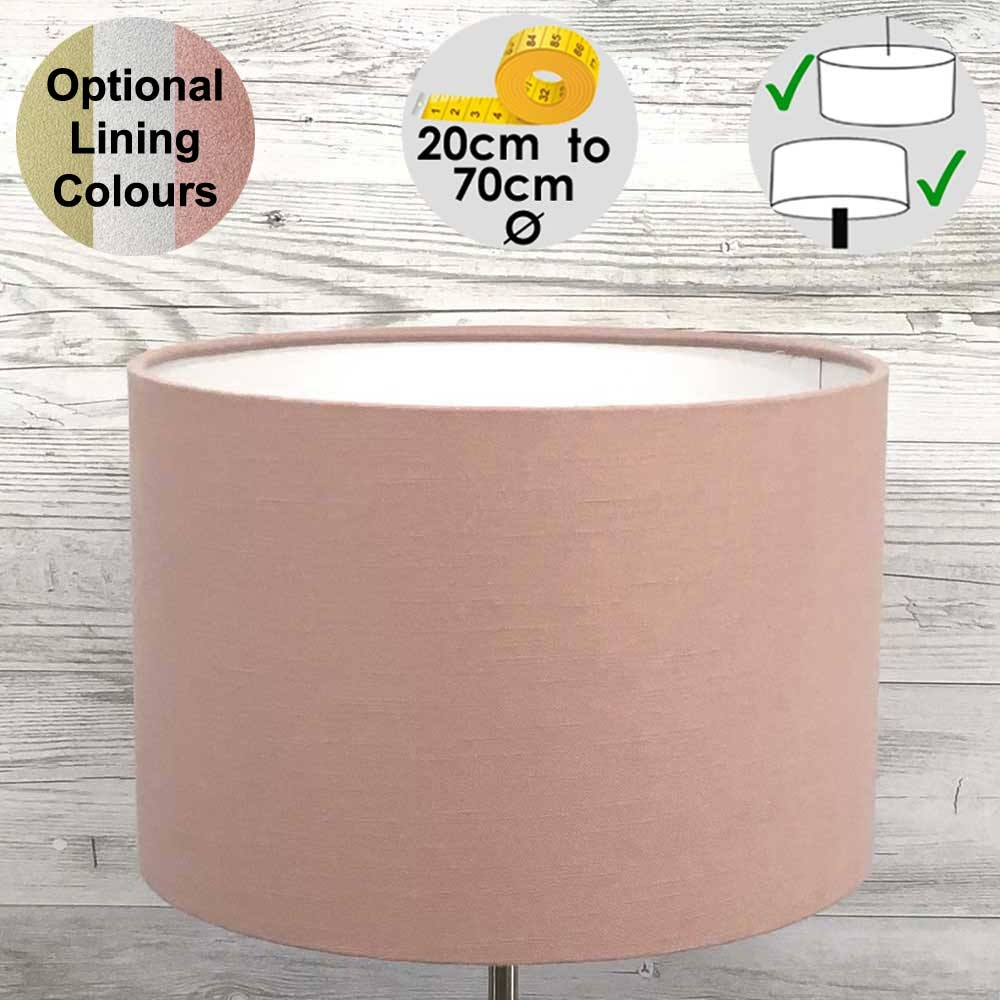 Aura Pink Drum Table Lampshade